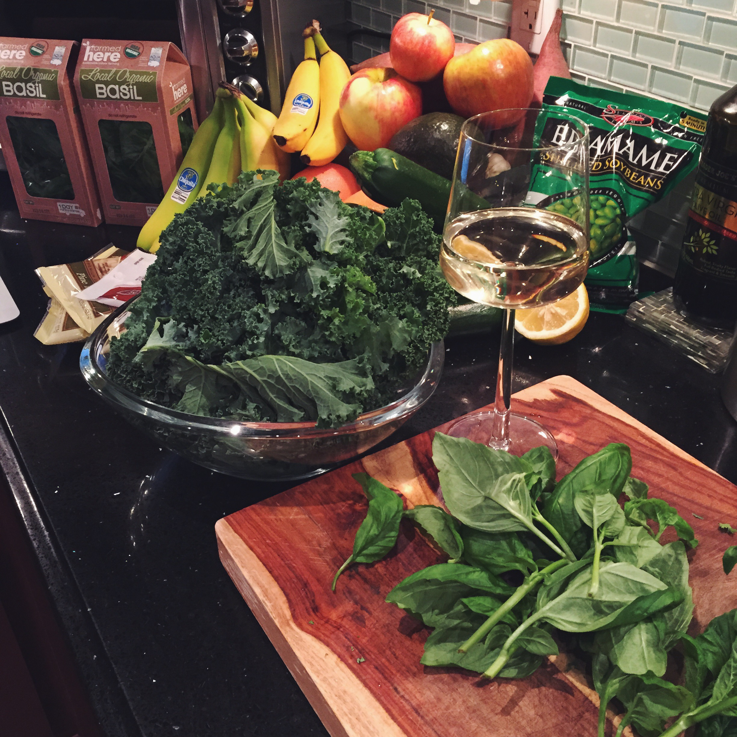 Ingredient Prep (don't forget your glass of wine!)
