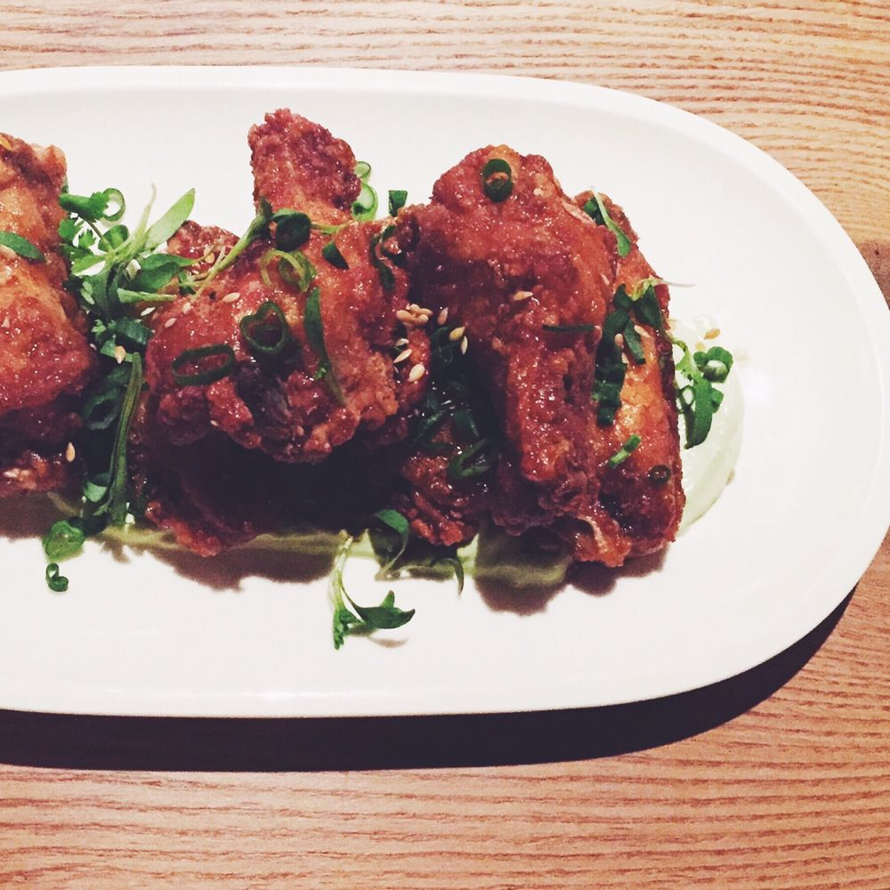 Oak + Char msg chicken wings