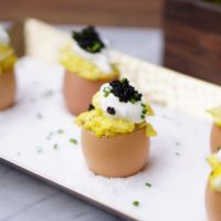 Fancy Eggs with Caviar