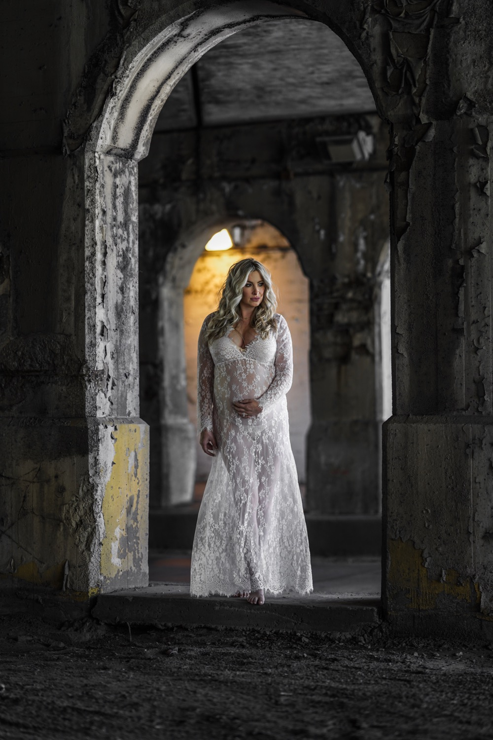 6b83eabb7e3 Lace Gown Maternity Photoshoot